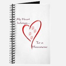 Havanese Heart Belongs Journal