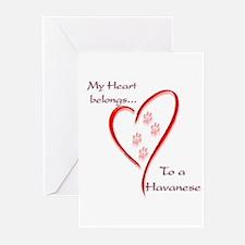 Havanese Heart Belongs Greeting Cards (Package of