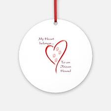 Ibizan Heart Belongs Ornament (Round)