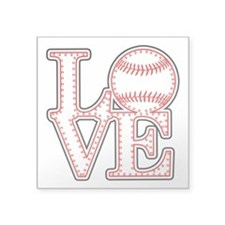Love Baseball Classic Sticker