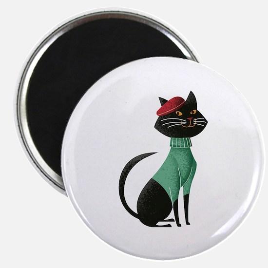 Black Cat from Paris Magnet