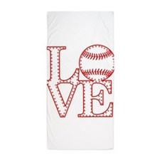 Love Baseball Laces Light Beach Towel