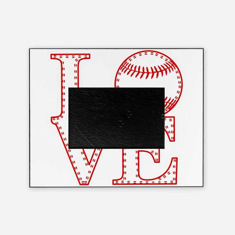 Love Baseball Laces Light Picture Frame