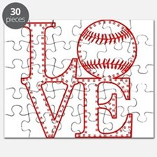 Love Baseball Laces Light Puzzle