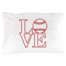 Love Baseball Laces Light Pillow Case