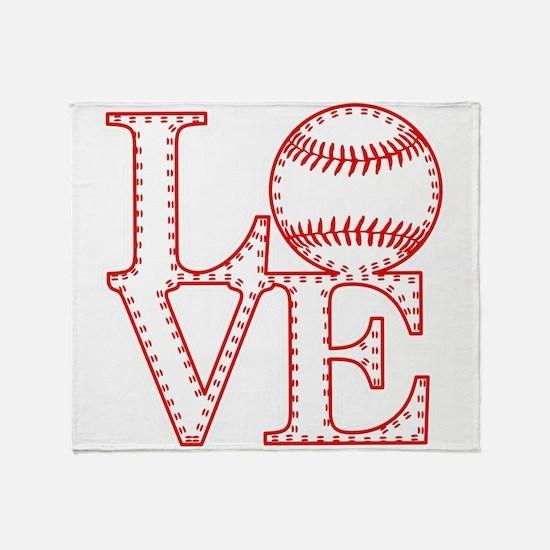 Love Baseball Laces Light Throw Blanket