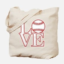 Love Baseball Laces Light Tote Bag