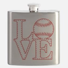 Love Baseball Laces Light Flask