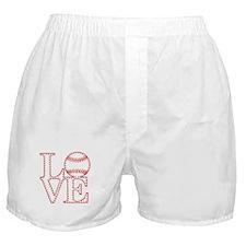 Love Baseball Laces Light Boxer Shorts