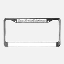 Simple Healthy Delights License Plate Frame