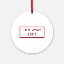 Tow-Away Zone - USA Ornament (Round)