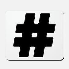 Black #Hashtag Mousepad