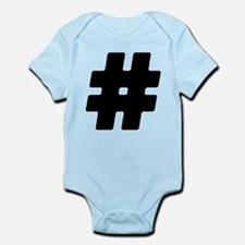 Black #Hashtag Infant Bodysuit