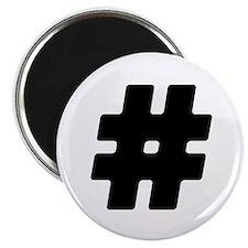 Black #Hashtag Magnet