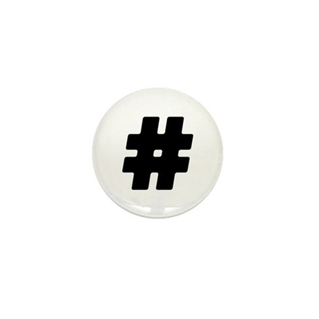 Black #Hashtag Mini Button (10 pack)
