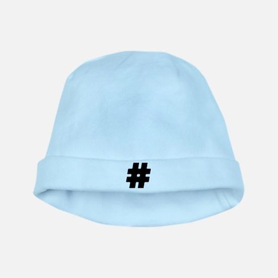 Black #Hashtag Infant Cap
