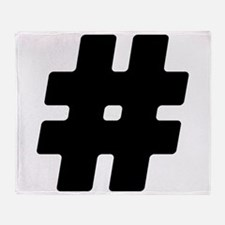 Black #Hashtag Stadium Blanket