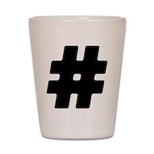 Black #Hashtag Shot Glass