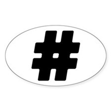 Black #Hashtag Oval Decal