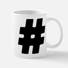 Black #Hashtag Mug
