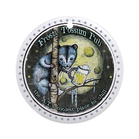 The Frosty 'Possum Pub Round Ornament