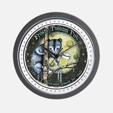 The Frosty 'Possum Pub Wall Clock