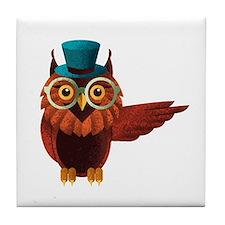 Wise Owl Tile Coaster
