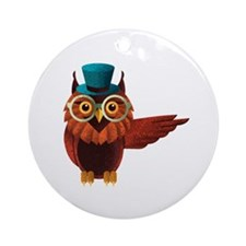 Wise Owl Ornament (Round)