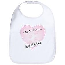 Love is my Field Spaniel Bib
