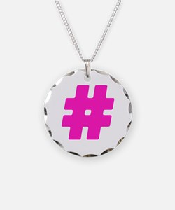 Hot Pink #Hashtag Necklace