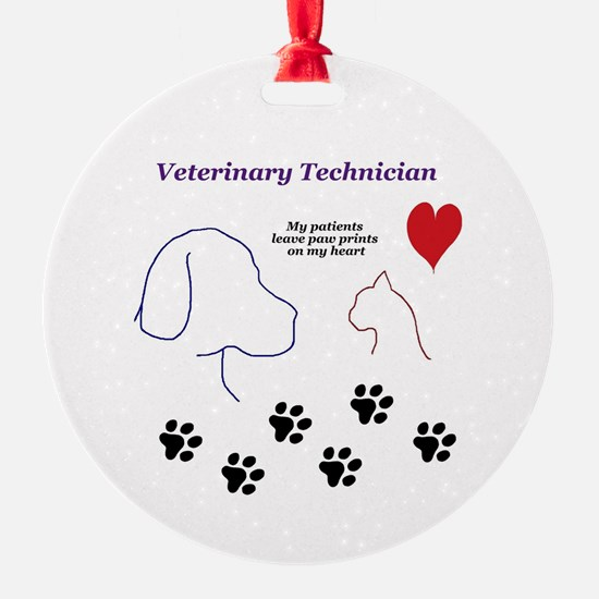 Veterinary Technician-Paw Prints on Ornament