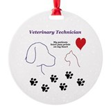 Vet tech Round Ornament