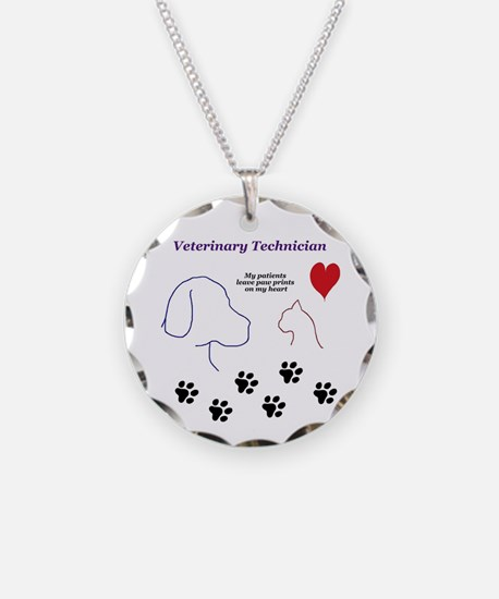 Veterinary Technician-Paw Pr Necklace