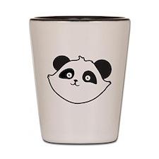 Cute Panda Face Shot Glass