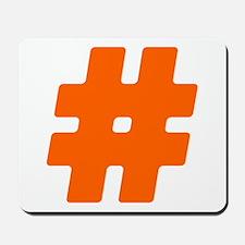 Orange #Hashtag Mousepad