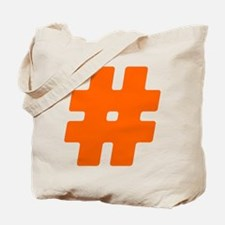 Orange #Hashtag Tote Bag