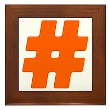 Orange #Hashtag Framed Tile