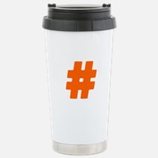 Orange #Hashtag Travel Mug