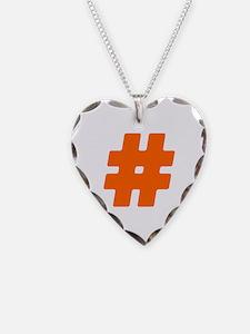 Orange #Hashtag Necklace