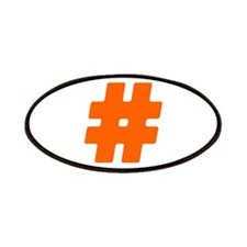 Orange #Hashtag Patches