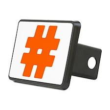 Orange #Hashtag Hitch Cover