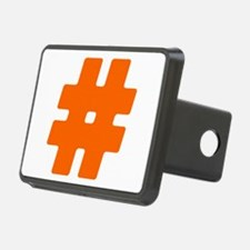 Orange #Hashtag Hitch Cover
