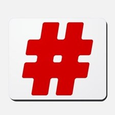 Red #Hashtag Mousepad
