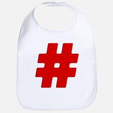 Red #Hashtag Bib
