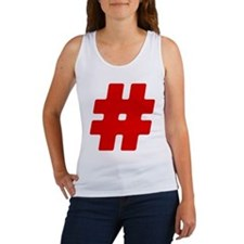 Red #Hashtag Women's Tank Top