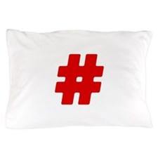 Red #Hashtag Pillow Case