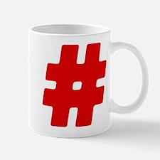 Red #Hashtag Mug
