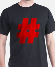 Red #Hashtag T-Shirt