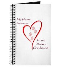 Italian Greyhound Heart Belongs Journal