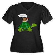 Snail on Turtle Plus Size T-Shirt